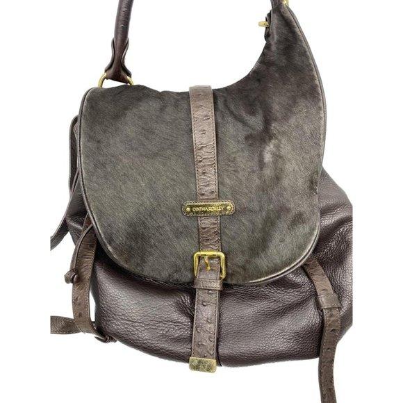 Cynthia Rowley Handbags - Cynthia Rowley Dark Brown Leather Backpack